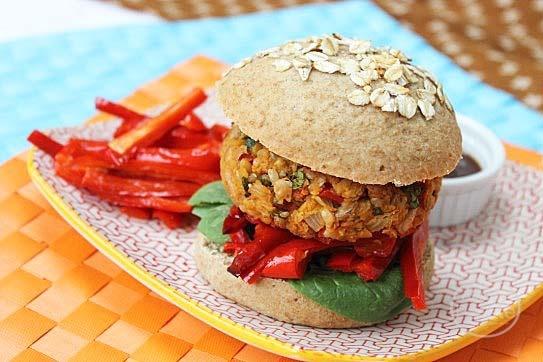 Chickpea burger   eat veg   Pinterest