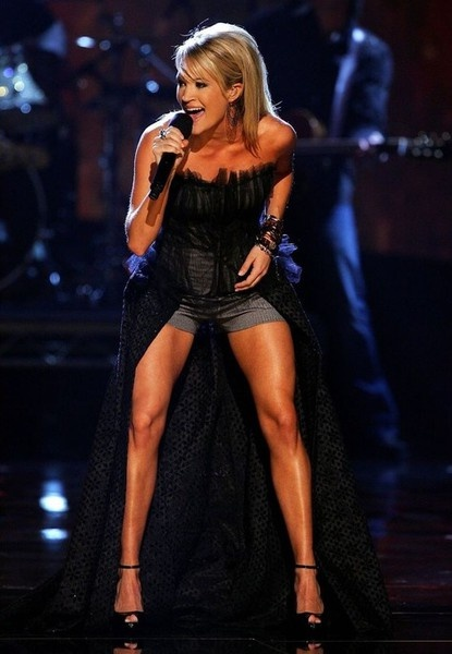 carrie underwood.  her legs are ridic.