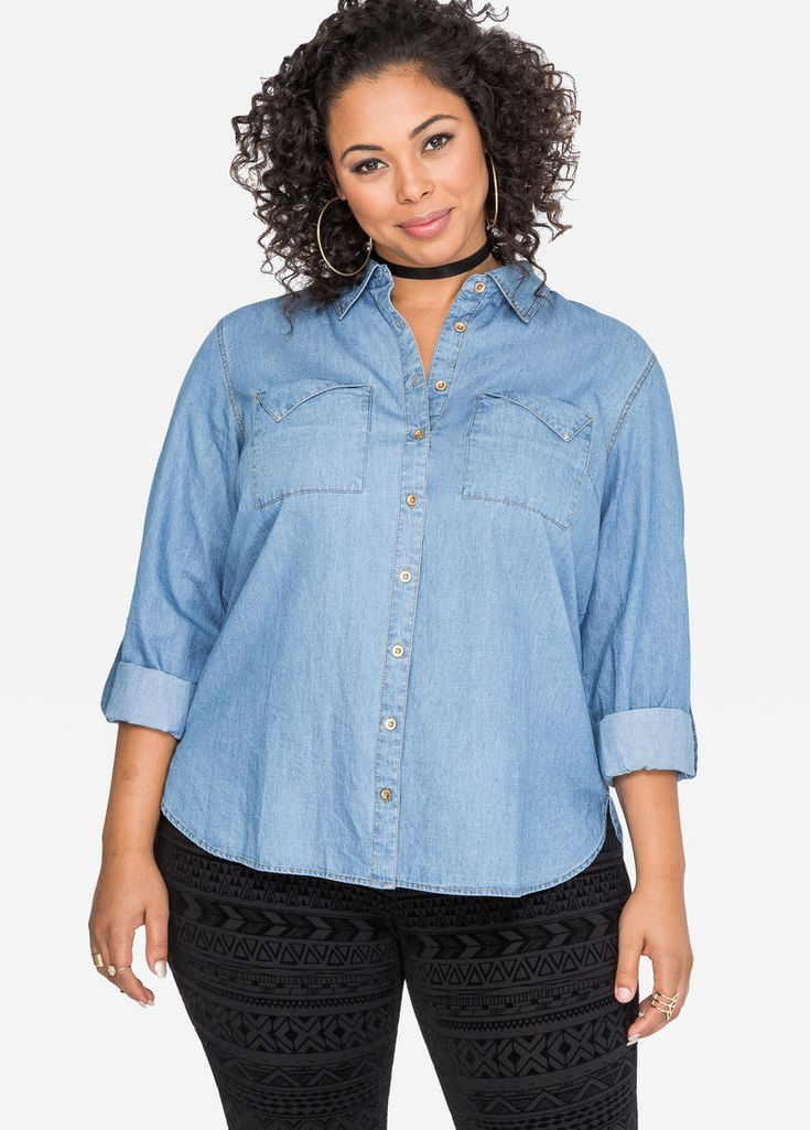 Slant Pocket Jean Shirt Slant Pocket Jean Shirt