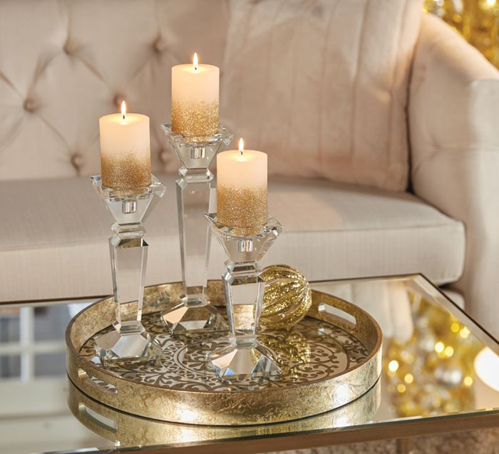 Shantung Candle Holders | Christmas Decor