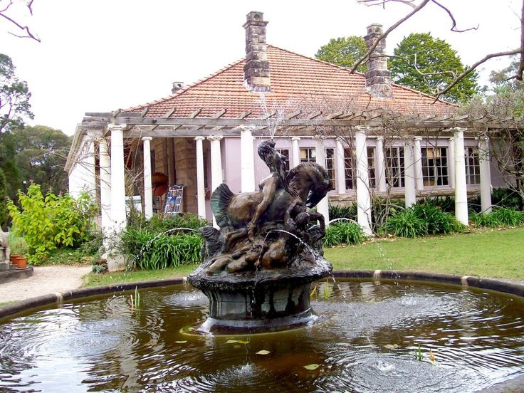Beautiful grounds of the Norman Lindsay Gallery & Museum, Springwood NSW