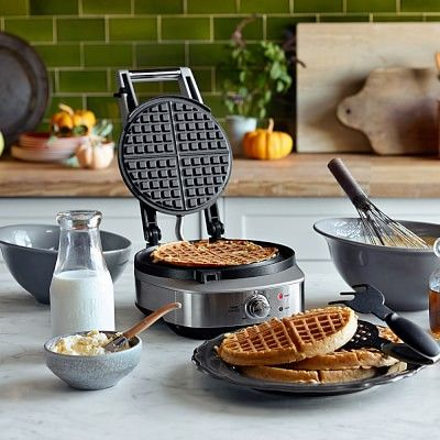 Breville No-Mess Classic Round Waffle Maker #williamssonoma