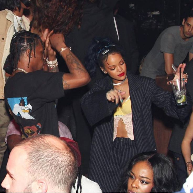 Rihanna, Travis Scott and Azealia Banks at #WeCanSurvive concert afterparty