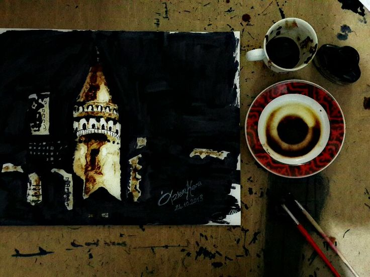Kahve telvesi ile..