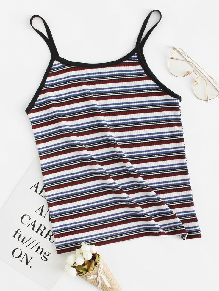 Striped Cami TopFor Women-romwe