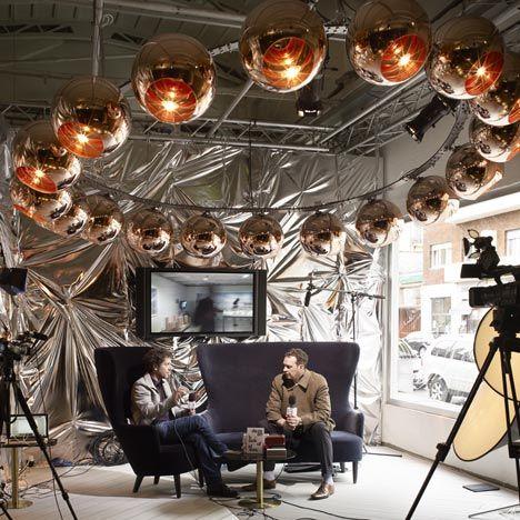 Loving the set of the Dezeen Studio's TV show.