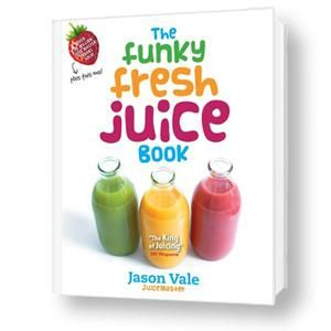 Recipes for healthy juices. I love the book and the recipes in it. Actually... there is a recipe of a juice I invented in there!