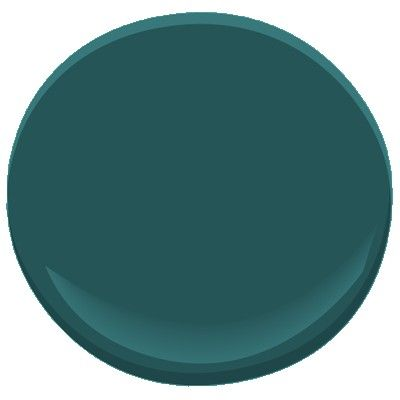 Benjamin Moore - deep sea green 735