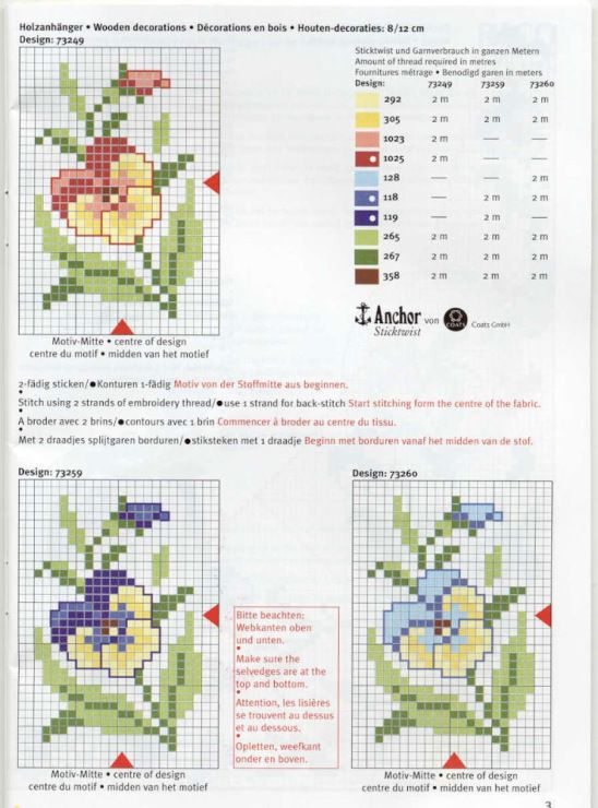 Cross stitch pattern can be easily adapted for loom work