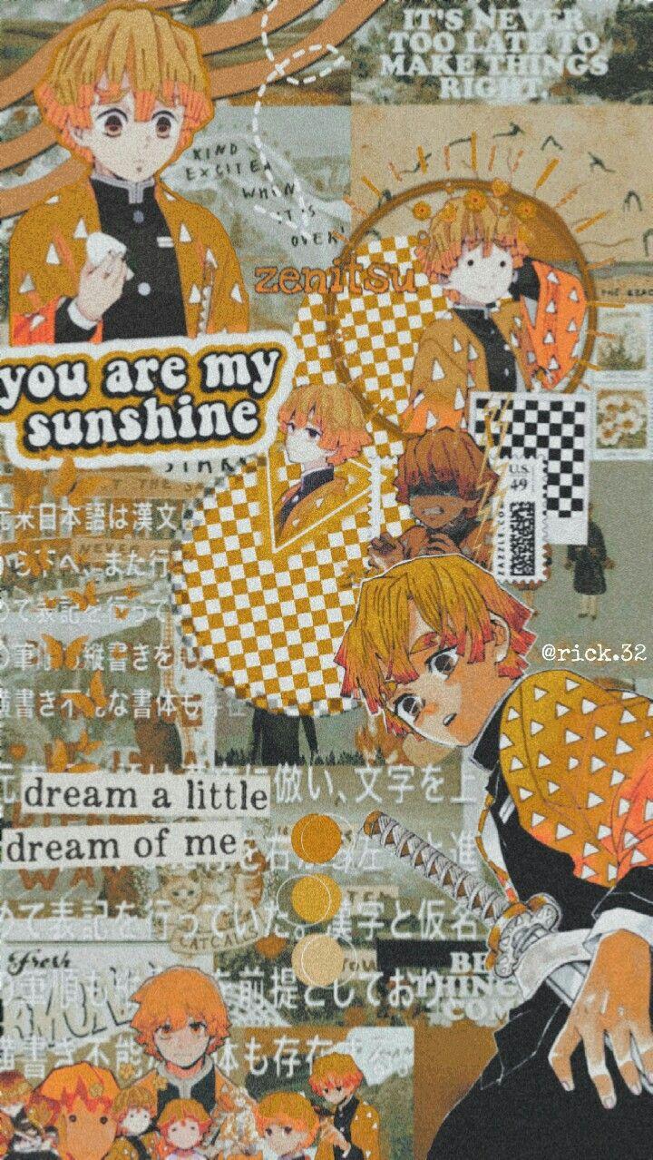 Zenitsu Wallpaper Zenitsu Wallpaper Anime Wallpaper Anime Collage Wallpaper 32 anime wallpaper for walls