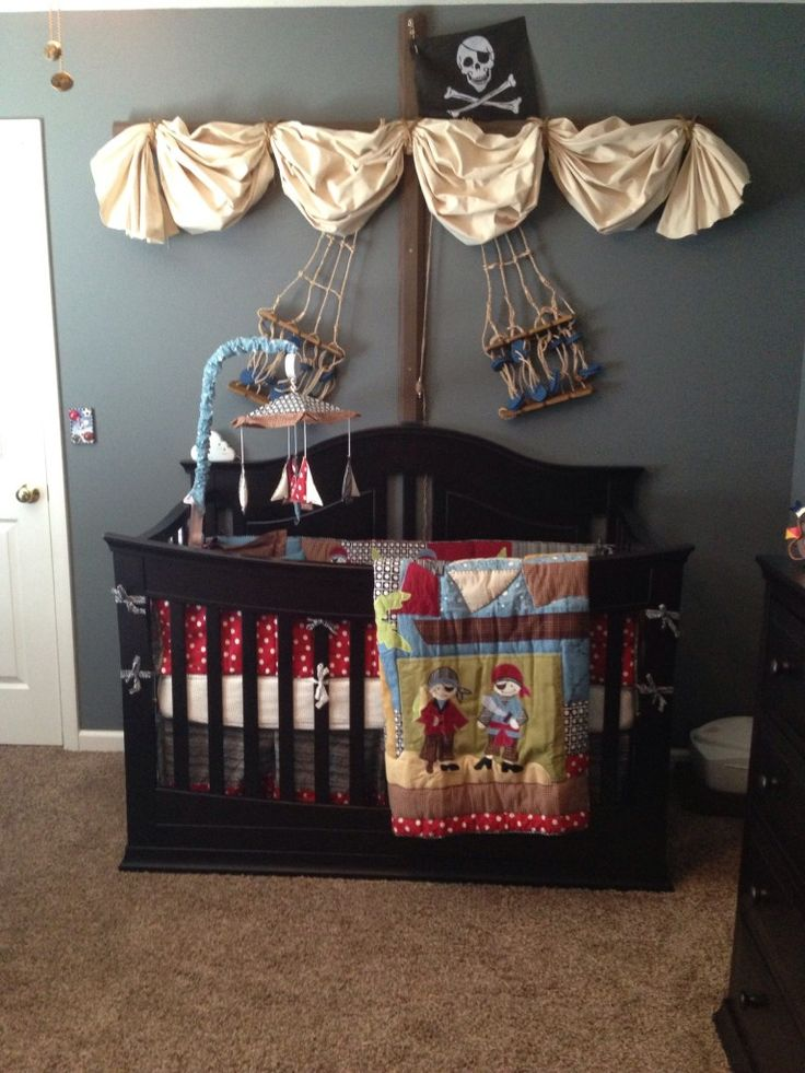 Oh my goodness...if for some reason I ever have a kid, this will be their room!! Project Nursery - Pirate Nursery Decor