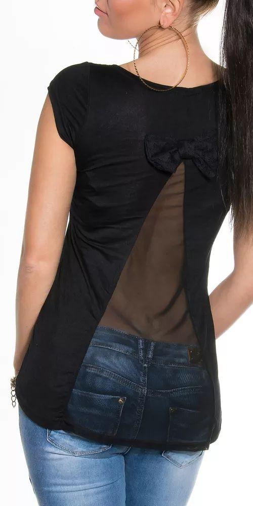 Elegantní dámské tričko s mašlí