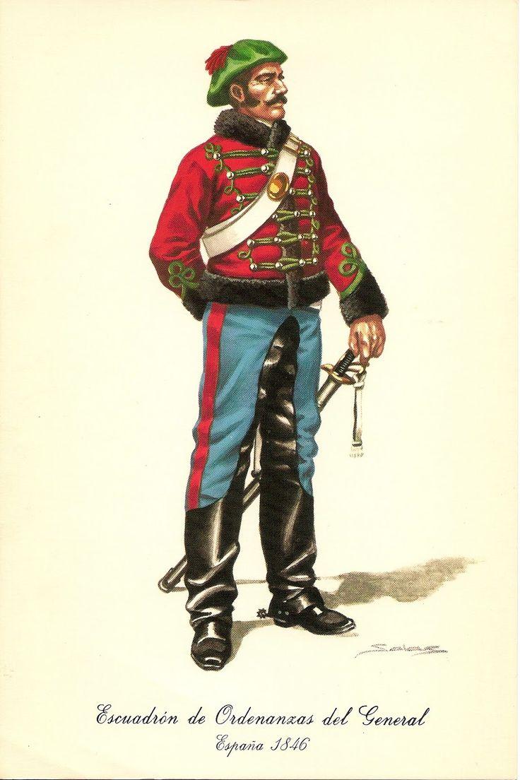 Spain; Carlists; General's Ordinance squadron, Hussar, 1846