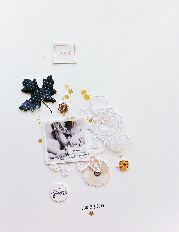 #papercraft #scrapbook #layout. Simple Moments by ChantalPhilippe at @studio_calico