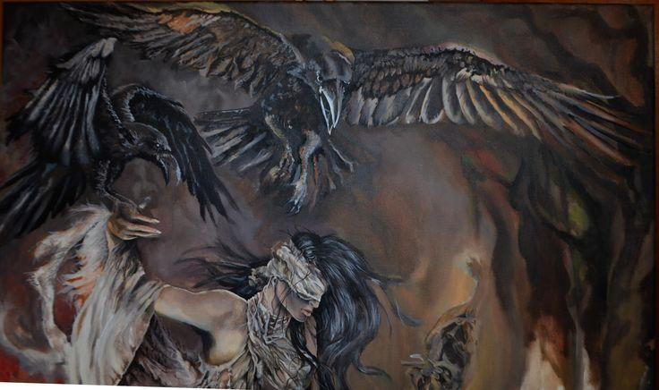 shamain  #shamain #Schamanin #woman #dance #raven #dark #darkromance #fantasy #mystic #draw #paint #danaiden