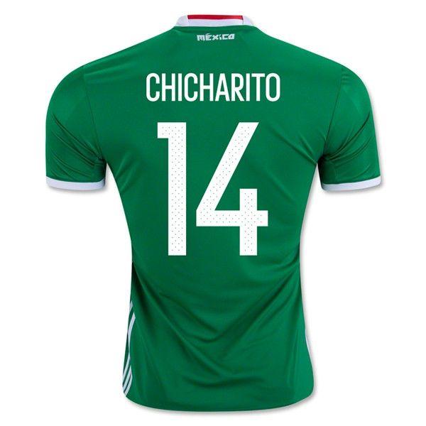 Mexico 2016 Home Men Soccer Jersey A. CHICHARITO #14