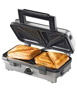 Waring WOSM1U Deep Fill Toasted Sandwich Maker - Silver.  423/5486