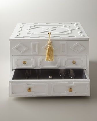 Chic...finally a chic flatware chest!