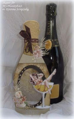 Bottle shaped card - Scrapbook.com