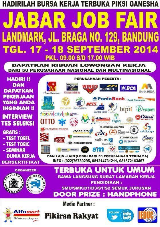 Jabar Jobfair, 17-18 September 2014 at Landmark Bandung #eventBDG #eventBandung