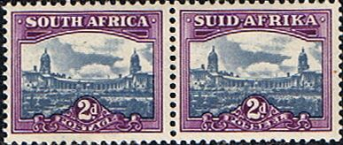 South Africa 1950 Union Building Pair Fine Mint SG 134 Scott 56 Other South African Stamps HERE