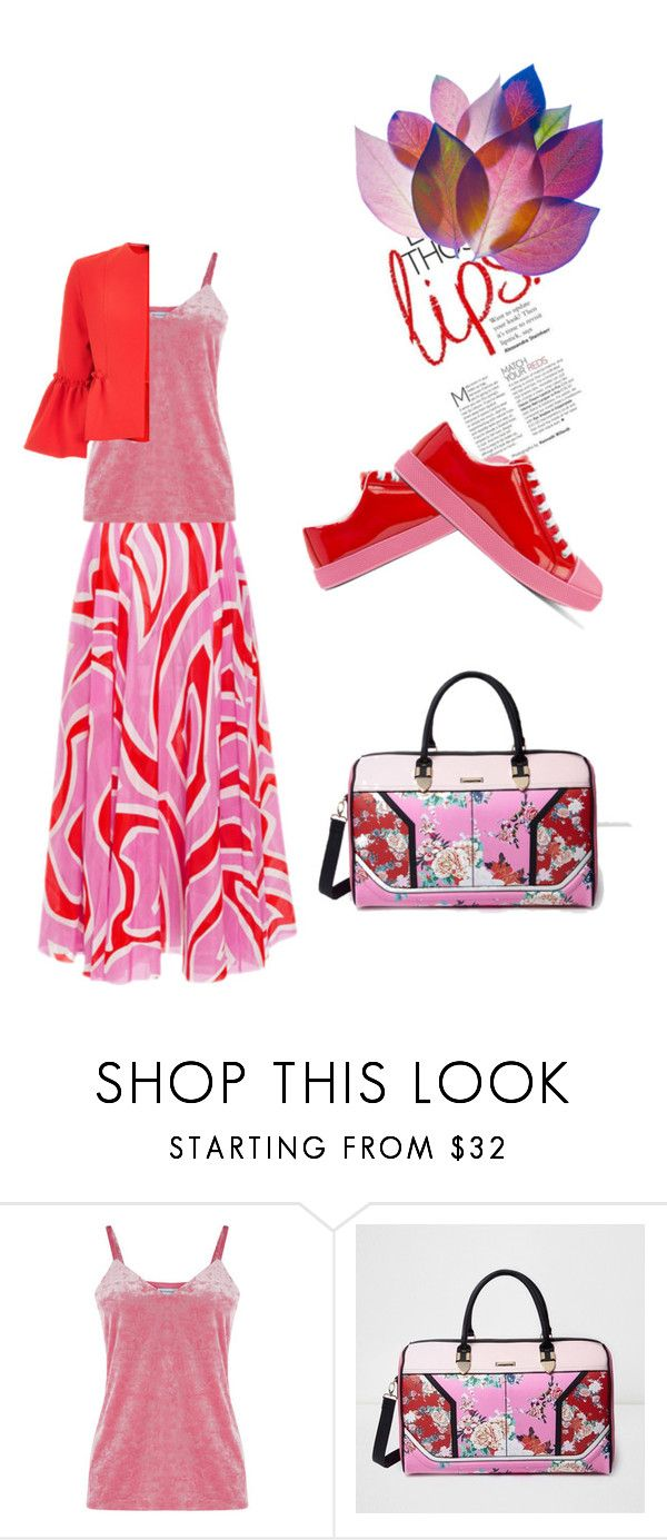 """""""Pink and Red trend"""" by peeweevaaz ❤ liked on Polyvore featuring Warehouse, River Island, outfit, polyvoreeditorial and polyvorefashion"""