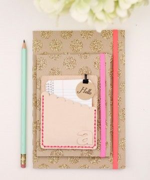 cuadernos glitter