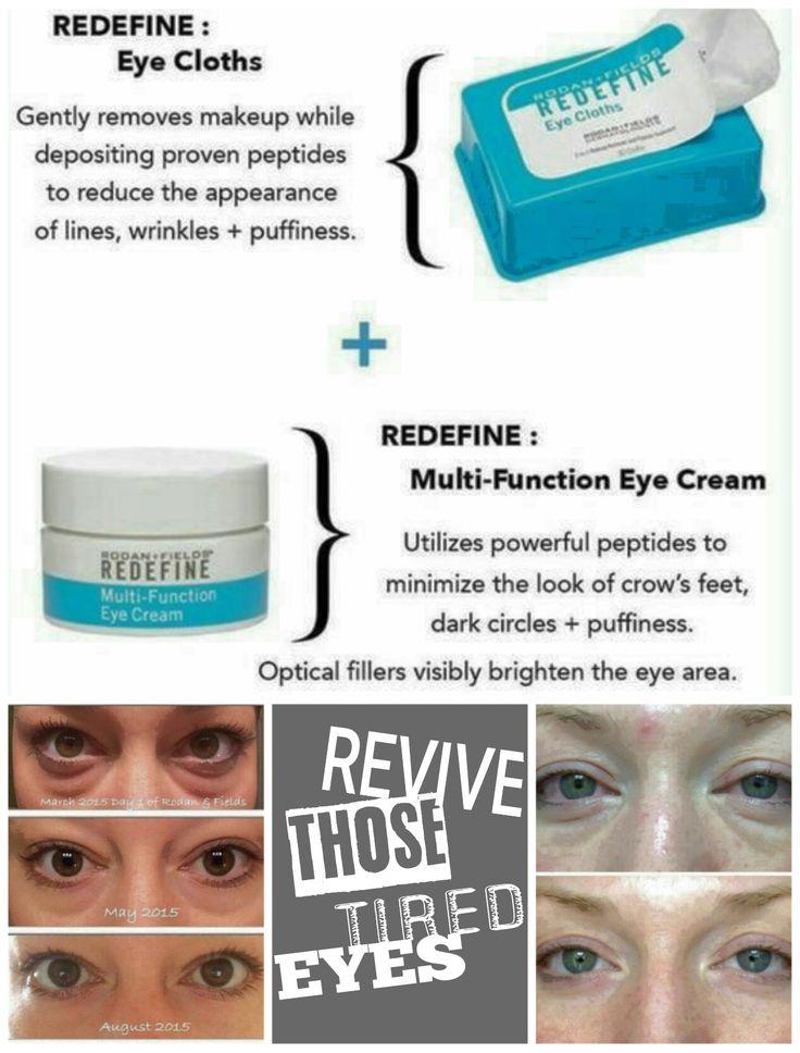 Revive those tired eyes!  Redefine Eye Clothes + Redefine Multi-Function Eye Cream.