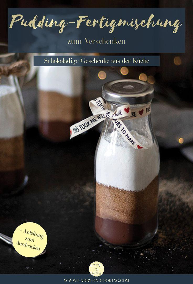 Selbstgemachte Pudding-Fertigmischung zum Verschenken plus Free Printable (enthält Werbung) – Rezeptsammlung – Kochen und backen auf carry on cooking | Foodblog