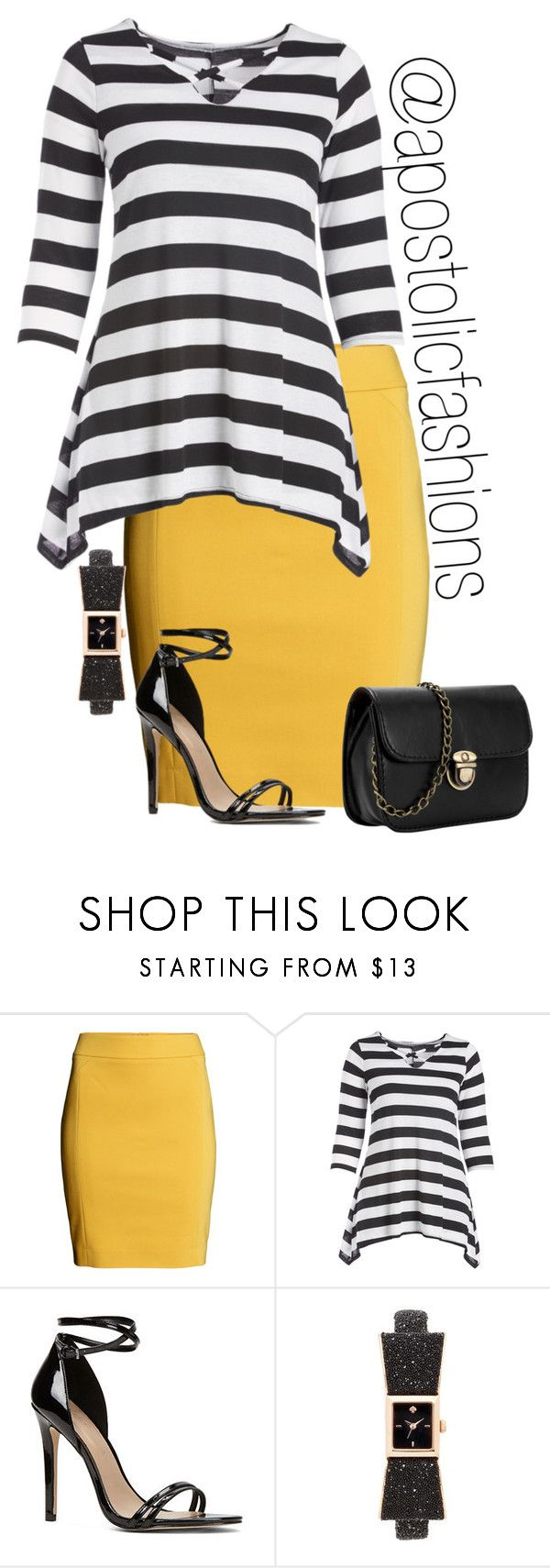 """""""Apostolic Fashions #1654"""" by apostolicfashions ❤ liked on Polyvore featuring H&M, ALDO and Kate Spade"""