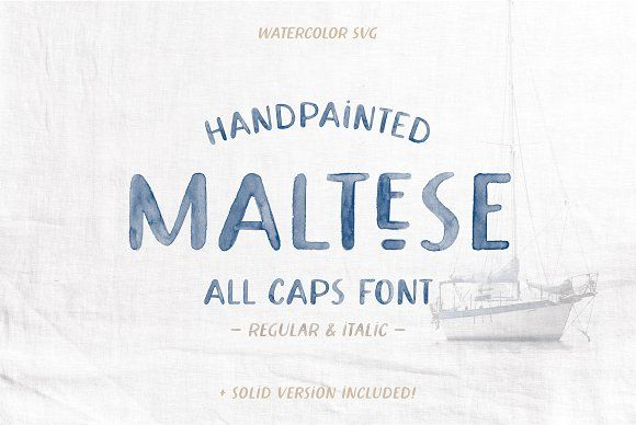 Maltese Svg Watercolor Font In 2020 Watercolor Font Lettering
