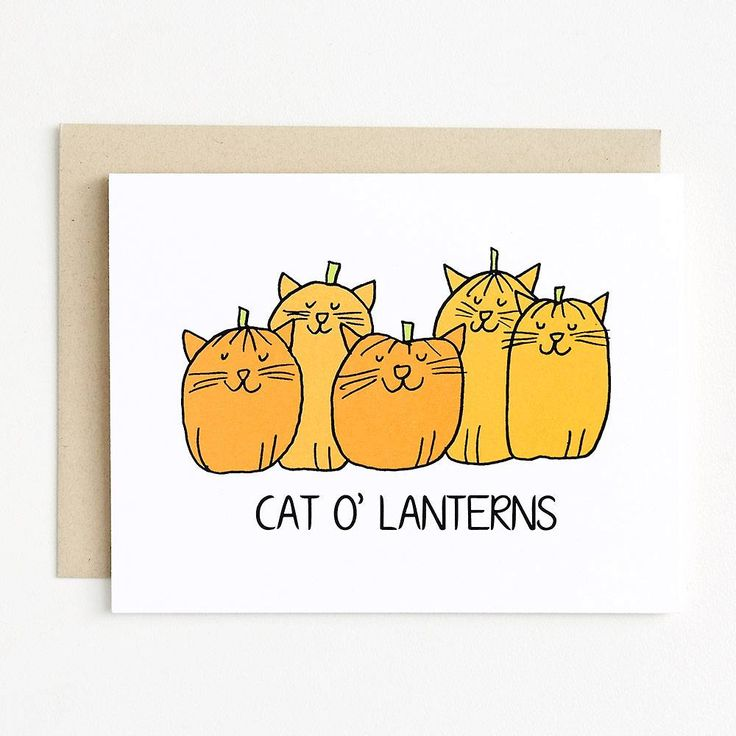 Cat olanterns halloween card halloween cards halloween