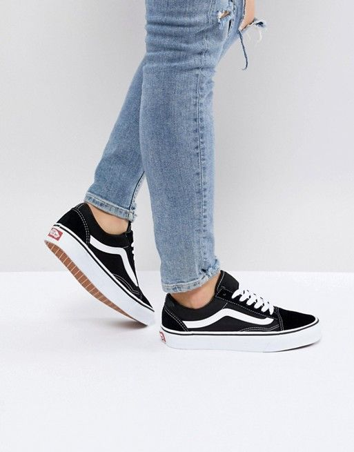 Vans Classic Old Skool Sneakers In Black And White