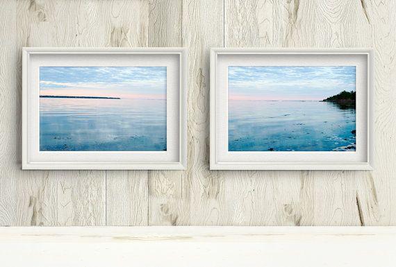 Summer Sunset Photograph Set of 2, Printable Seascape by PlayfulPixieStudio  #printablewallart #eastcoast #canadianseascape #sunset