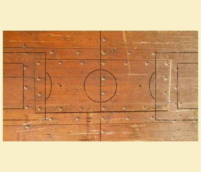 """Kickertisch Zubehör / Kicker Zubehör / Tischfußball Zubehör - Spielfeldfolie Motiv """"Holz"""""""