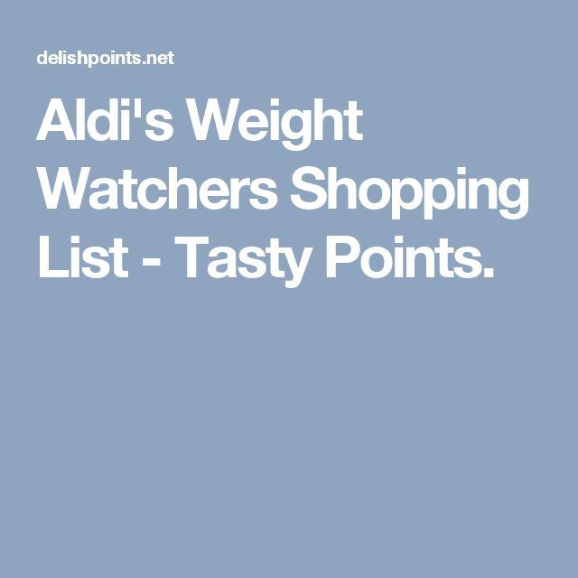 Aldi's Weight Watchers Shopping List - Tasty Points.