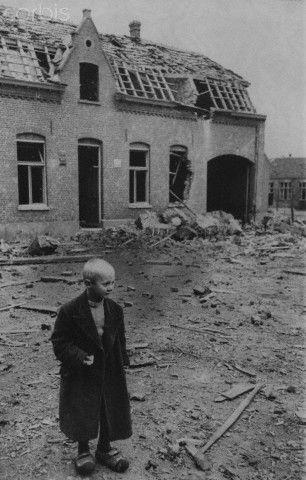 Dutch boy somewhere in Holland, 1944.