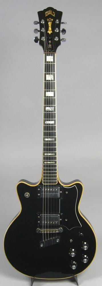 Vintage 1977 Guild M-80 electric guitar