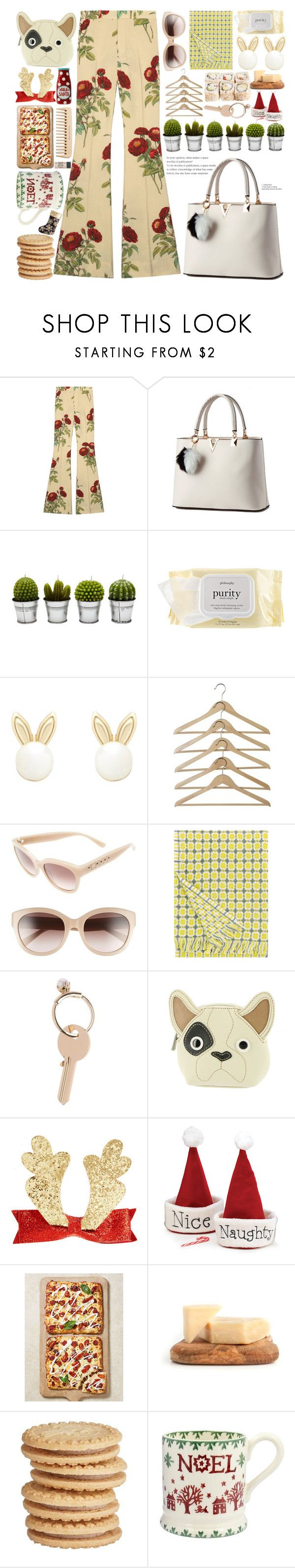 """""""light yellow"""" by nadiazaful ❤ liked on Polyvore featuring Gucci, Billabong, philosophy, Lipsy, MCM, Lapuan Kankurit, Maison Margiela, The Body Shop, Relic and A by Amara"""