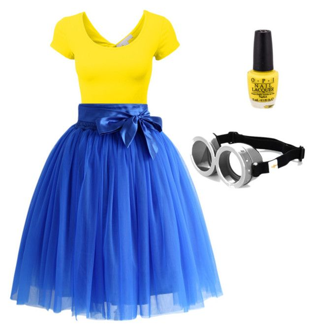 """Minion themed outfit!"" by justlikeindia on Polyvore"