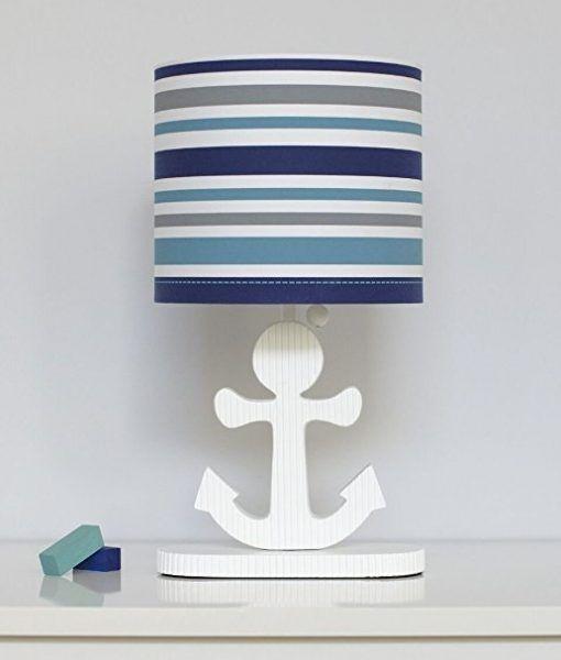 High Seas Nautical Collection Striped Lamp - Beachfront Decor