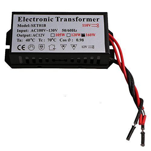 LED Halogen Light Power Supply Converter Electronic Transformer Adapter 110V 160W  Model: AET110V 160C/T  Material: Iron  Size: 105 x 48 x 27mm/4.1 x 1.89 x 1.06inch(L x W x H)  Power factor: 0.99  Rated power: 160W (maximum power)