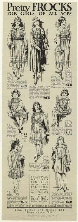 Pretty frocks for girls of all ages.         (1918)