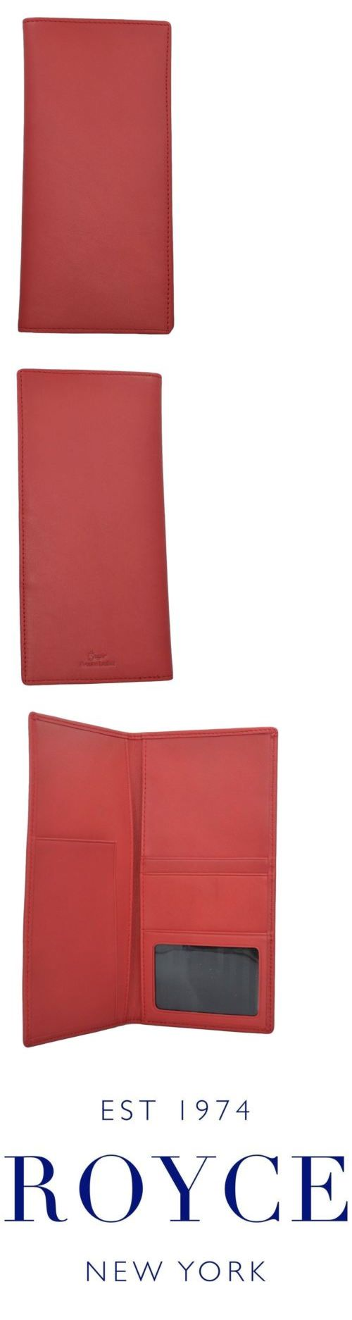 Money Belts and Wallets 98968: Royce Leather Rfid Blocking Passport Ticket Holder Red One Size -> BUY IT NOW ONLY: $42.05 on eBay!