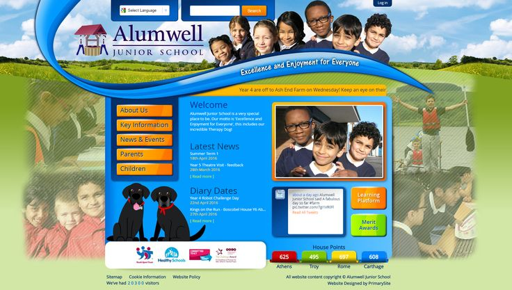 Alumwell Junior School wanted a photo montage website to include photos of the children, schools surroundings and their gorgeous school dogs.