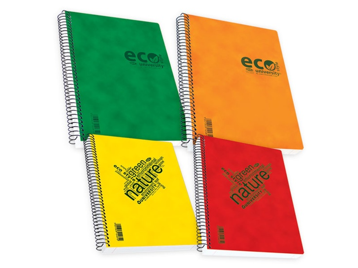 """Notebooks """"ECO STYLE"""" Pressboard Cover http://www.skag.gr/product_details.php?cat_id=286"""