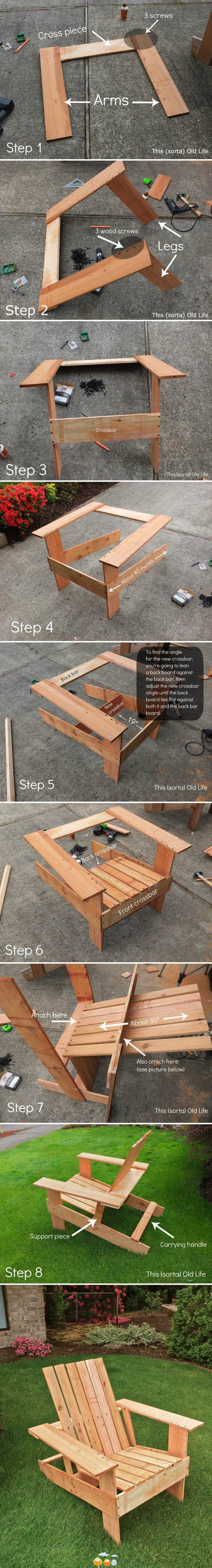 Make your own chair. Would be cute in a smaller version for kids.