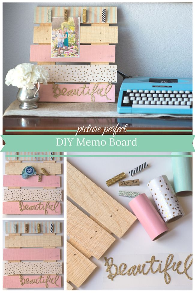 DIY Memo Board...for mom...