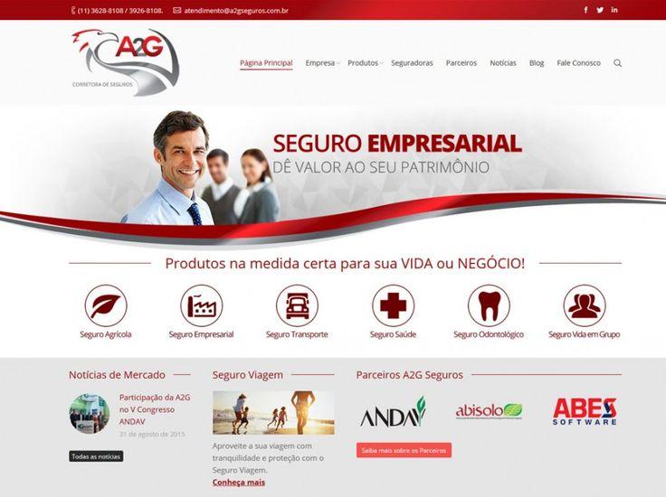 A2G Corretora de Seguros - FIRE Mídia - Agência de Publicidade em Santos-SP - A2G Corretora de Seguros cliente FIRE Mídia! Acesse nosso portfólio!