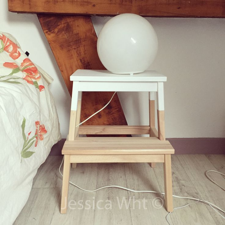 25 parasta ideaa pinterestiss table de chevet blanche for Lampe de chevet chez ikea